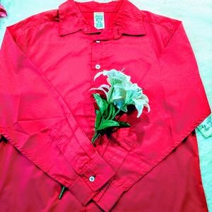 faded glory red button down top Holiday boy's new